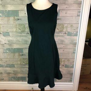 LOFT dark green dress size 6-8